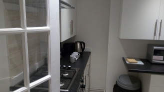One side of the kitchen